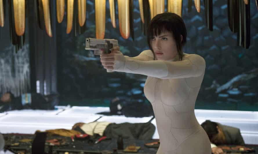 Scarlett Johansson plays Major Mira Killian in Ghost in the Shell.