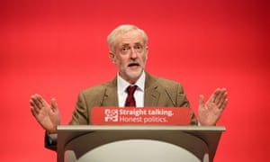 Britain's Labour Party Leader Jeremy Corbyn makes his keynote address on the third day of the annual Labour Party Conference in Brighton, south east England, on September 29, 2015.