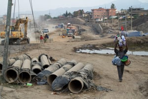 In 2011, Nepal's then prime minister, Baburam Bhattarai, launched a road expansion programme in the capital, Kathmandu. Seven years later, the controversial project is still running. Opponents argue it has increased air pollution, damaged cultural heritage sites and caused major congestion. Supporters say the new roads, especially the expansion of the city's ring road, are vital for the country's development. All photographs: Pete Pattisson
