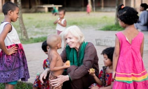"""Making a difference: Sreepur founder """"Mother"""" Pat Kerr with some of the school's children."""
