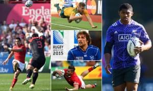 Kurt Morath, Drew Mitchell, Jaques Burger, DTH van der Merwe and Waisake Naholo