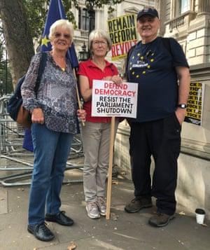 Maureen Loney, Linda Abbott and Alan Costar.