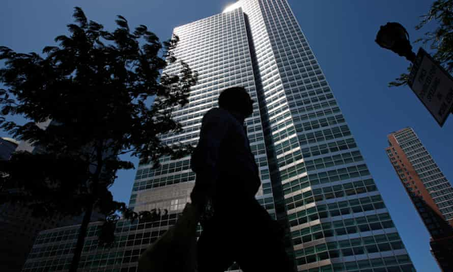 The headquarters of Goldman Sachs Group in New York … Varoufakis reserves his greatest vitriol for the banks.