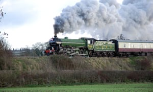 A vintage LNER steam locomotive on the Battlefield Line, in Leicestershire