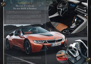 A BMW on offer in the Presidents Club brochure.
