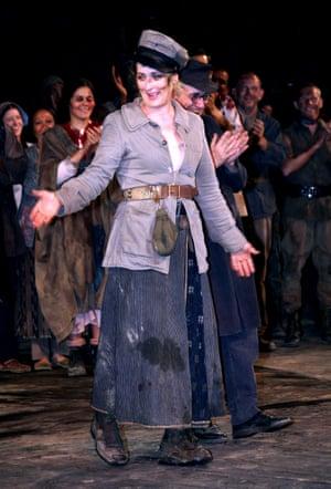 Tony Kushner's version of Brecht's classic starred Meryl Streep at the Delacorte theatre in New York, 2006.