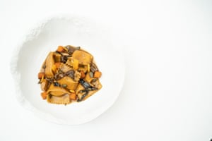 A Marmite emulsion livens up this pasta dish from the restaurant Mere.