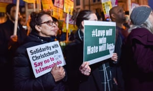 People of all faiths attend a vigil for the victims of the New Zealand mosque shootings.
