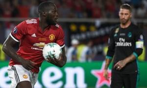 New signing Romelu Lukaku scores in the 2017 Uefa Super Cup