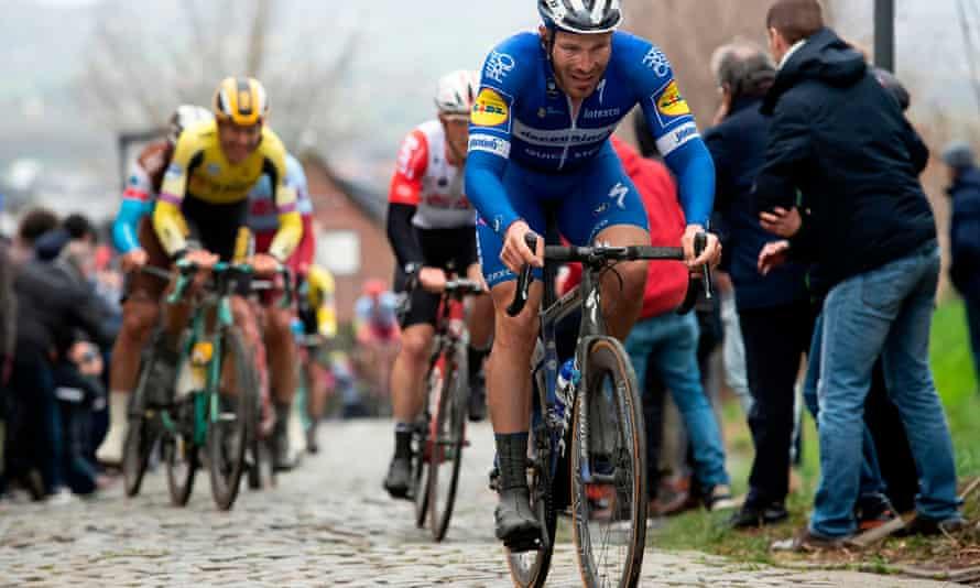 French rider Florian Senechal of Deceuninck-Quick Step riding in Kuurne-Brussels-Kuurne