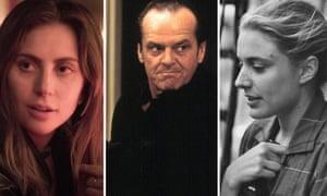 Lady Gaga, Jack Nicholson and Greta Gerwig.