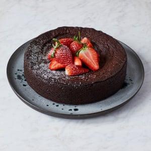 Anja Dunk's chocolate fudge cake.