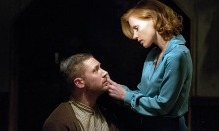 Tom Hardy with Jessica Chastain in Lawless