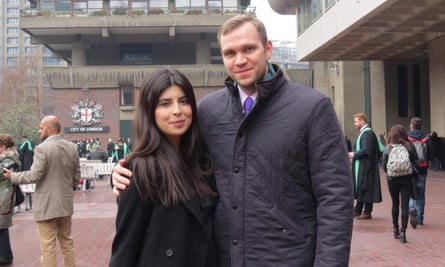Matthew Hedges with his wife Daniela Tejada, who campaigned for his release