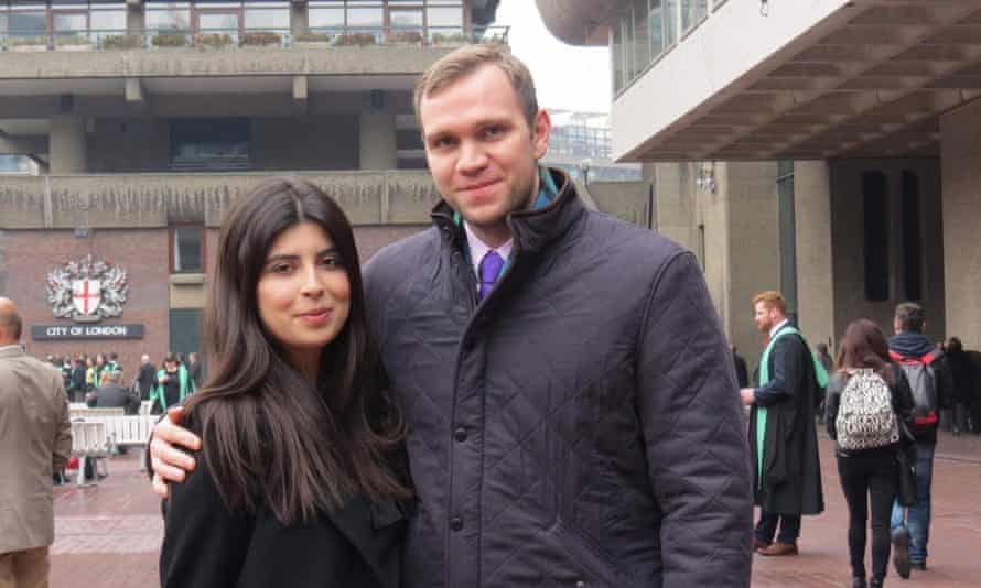 Matthew Hedges, who has been jailed for life in the United Arab Emirates, pictured with his wife Daniela Tejada.