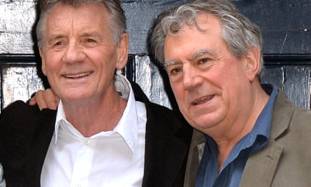 Terry Jones with  and Michael Palin