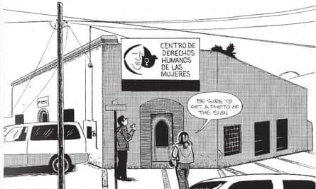 The graphic novel depicts the daily reality and pressures for human rights defenders in a state where violence is endemic. Illustration: Jon Sack.