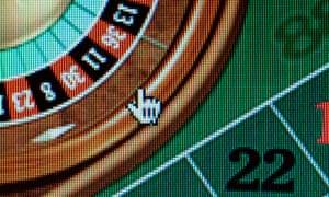 Poker wheel on computer screen