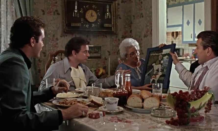 Scorsese's mother, Catherine, as Tommy's artistic mother in Goodfellas.