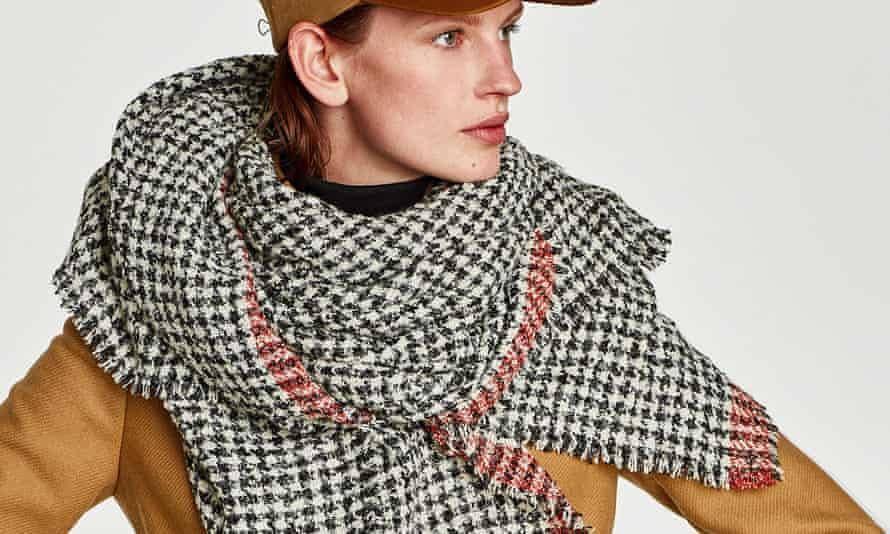 Zara's check scarf.