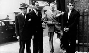 Gangster Billy Hill, left, with underworld figures in London in 1955. Next to him, Eddie Chapman, who was the wartime spy Agent Zigzag.