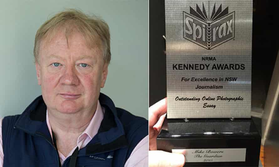 Guardian Australia photographer at large Mike Bowers and the Kennedy award that he was asked to return.