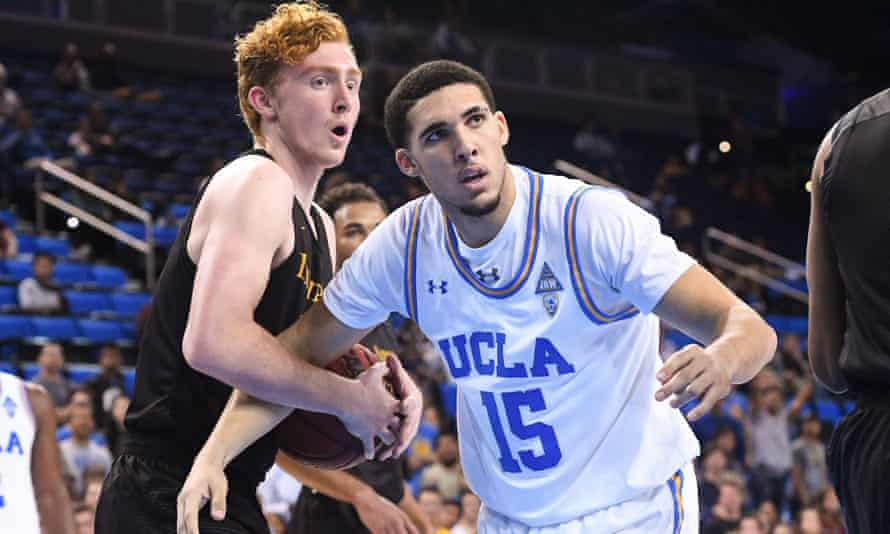 LiAngelo Ball (15) is the brother of Lakers star Lonzo Ball