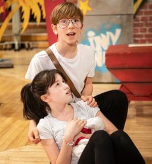 Nerve-racking … Mikey Hawkins as Adrian with Matilda Hopkins (Pandora).