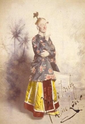 Dan Leno as Widow Twankey in Aladdin at the Theatre Royal, Drury Lane, 1896.