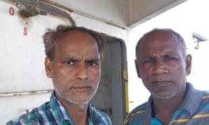 Sailors Vikas Mishra and Arsu Lobo