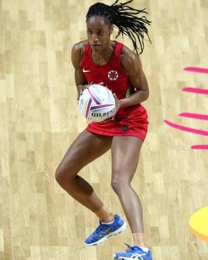 England netball player Layla Guscoth.