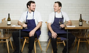 Bertrand Grebaut and James Lowe at Lyle's in Shoreditch, London.