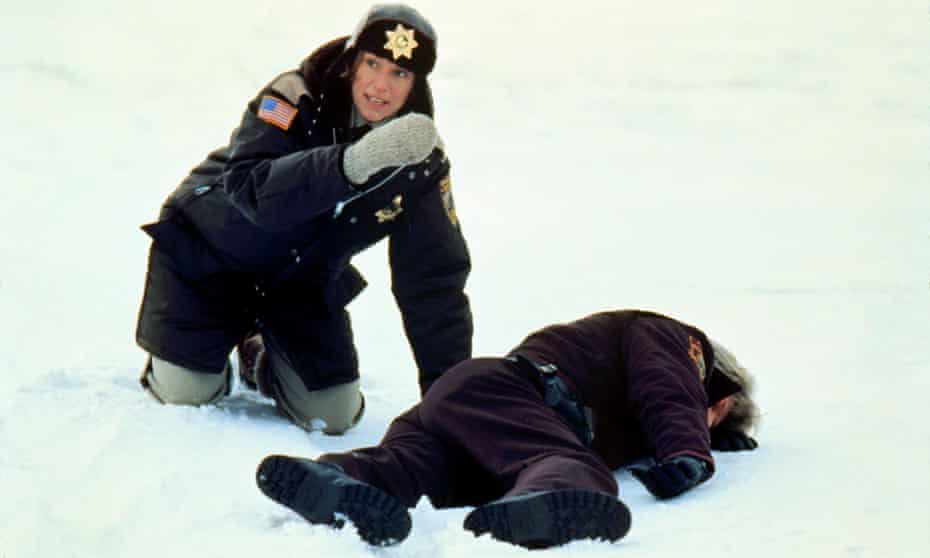 Frances McDormand as pregnant police chief Marge Gunderson in Fargo.