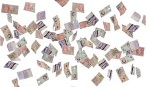 british pound notes falling