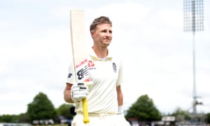 Joe Root leaves the field after his double hundred at Hamilton. He needs more big scores