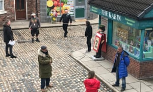 Filming on Coronation Street with social distancing measures resumed in May.