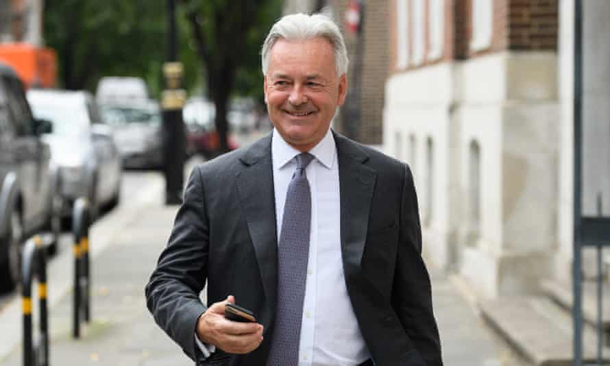 Alan Duncan in Westminster after it was announced that he would be quitting his government position, in July 2019.