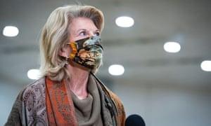 Lisa Murkowski on Capitol Hill on 10 February.