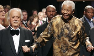 George Bizos, left, and Nelson Mandela in 2008
