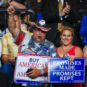 Supporters at a Donald Trump in Cedar Rapids, Iowa.