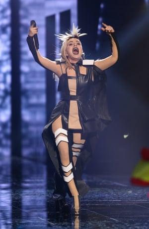 Poli Genova representing Bulgaria performs 'If Love was a Crime'