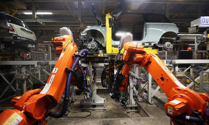 BMW's Mini production line at Cowley