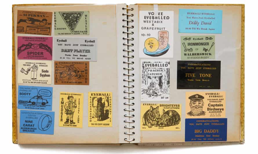 Collectors' items ... an eyeball card album.