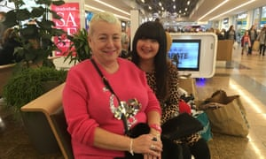 Carol Martin and Melissa Hipwell at the Boxing Day sales at Meadowhall in Sheffield