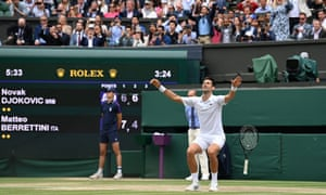 The great Novak Djokovic wins his sixth Wimbledon title. What a player.