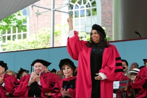 Receiving an honorary degree at Harvard University in 2014