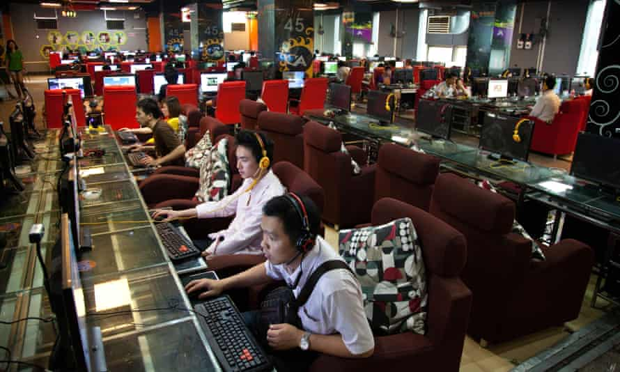 Internet cafe in Guilin, Guangxi Province