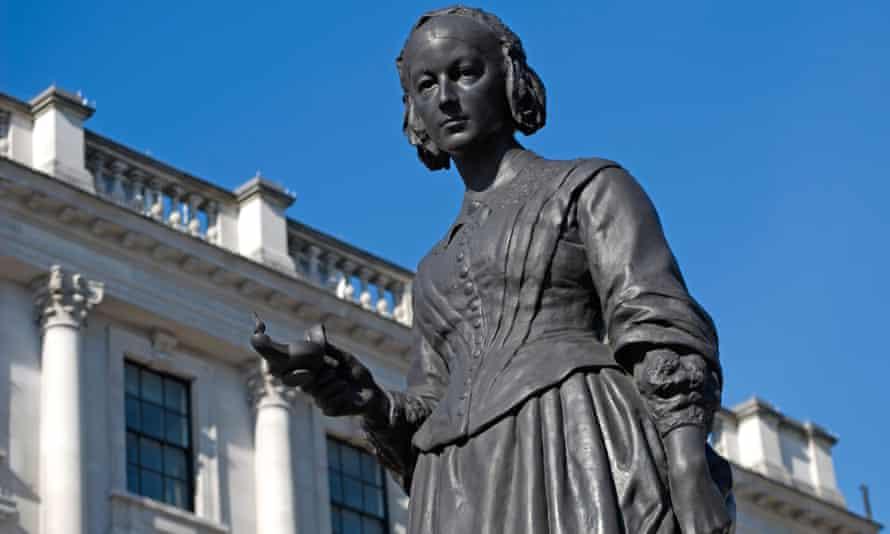 Night nurse… Florence Nightingale statue in London.