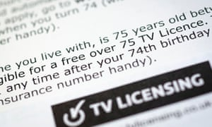 Close up of tv licence