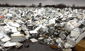 Dumped appliances at a site in Manchester.